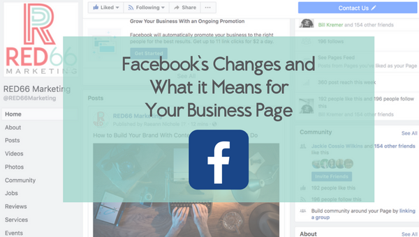 Facebook's Algorithm Change and Your Business Page – Our Top 5 Takeaways