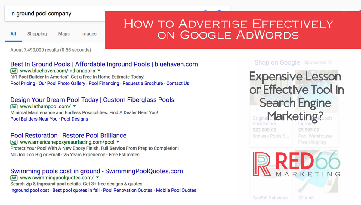 How to Advertise Effectively Using Google Adwords | RED66 Marketing